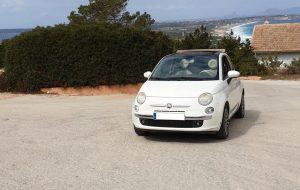 Alquiler Fiat 500 Cabrio Formentera